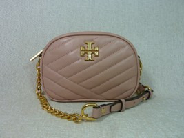 NWT Tory Burch Pink Moon Kira Chevron Small Camera Bag $358 - $324.72