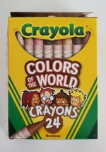 Crayola Colors of The World Crayons 24 Pack Multicultural Crayons New - $3.56
