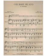 Sheet Music - God Make Me Kind ~ Haydn Wood ~ Desmond Carter ~ 1932 - $7.87