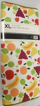 """Extra Large Printed Microfiber Dish Drying Mat, Approx 24""""x18"""", FRUITS, SL - $17.81"""