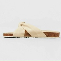 Universal Thread Womens Junie Cream Vegan Faux Leather Knotted Slide Sandals NWT image 2