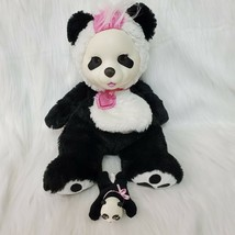 "14"" Just Play Bear Surprise Panda Bear Mommy & 1 Baby Cub Plush Stuffed Toy B225 - $24.99"