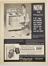 "1964 Print Ad Hotpoint 30"" Electric Ranges Teflon Oven Walls - $11.56"