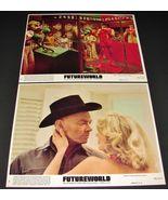2 1976 Movie FUTUREWORLD Lobby Cards Peter Fonda Yul Brynner Blythe Danner - $24.95