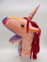 Manhattan Toy Unicorn Hand Puppet Ursa The Magical Myths Pink Sparkly Horn - $29.69