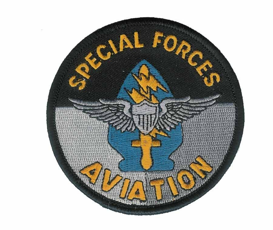 "ARMY SPECIAL FORCES AVIATION EMBROIDERED 4"" PATCH"