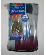 Mens Fruit of The Loom  4 PK  Boxer Briefs Various Sizes  NIP Assorted C... - $11.99