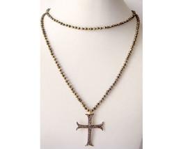 Cross Victorian Inspir. 0.85Ct. Rose Cut Diamond Sterling Silver Antique Pendant - $339.27