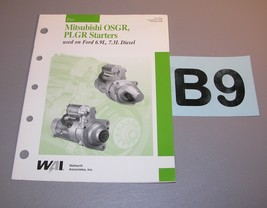 2000 WAI Mitsubishi OSGR PLGR Starters Catalog 87-113-00  B9 - $7.87