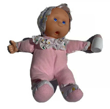Lollipalooza Goldberger Baby Doll Thumb Bottle Sucking Rubber Face Pink White - $18.41