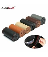 AutoYouth® Leather Hand-sewn Steering Wheel Cover Four Seasons General - $14.85