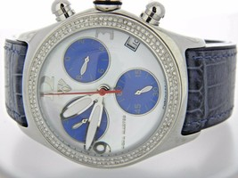 Round Aqua Master Bubble Stainless Steel Diamond Watch For Men - $381.78