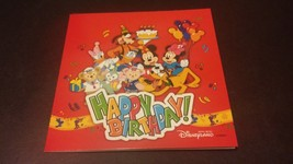 Hong Kong Disneyland Hotel Birthday Card with Mickey and Minnie Mouse Autograph - $23.38