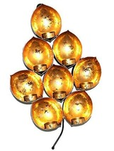 PARIJAT HANDICRAFT Leif Shape 8 Candle Holder Bunch Gifts & Decor Pair o... - $54.45