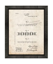 Chain Saw Chain Patent Print Old Look with Beveled Wood Frame - $24.95+