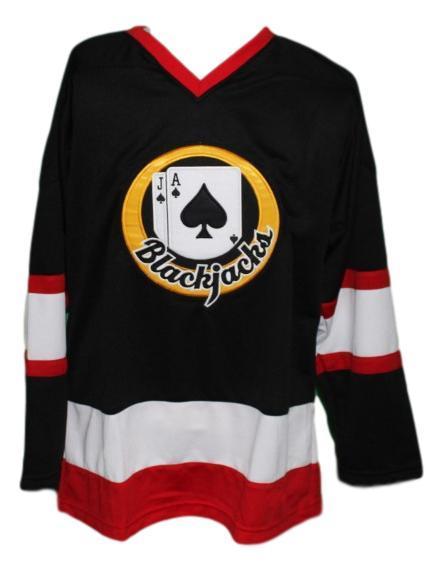 Ross rhea  3 boston blackjacks retro hockey jersey black   1