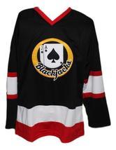 Custom Name # Boston Blackjacks Retro Hockey Jersey New Black Ross Rhea Any Size image 1