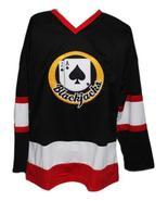 Custom Name # Boston Blackjacks Retro Hockey Jersey New Black Ross Rhea ... - $54.99+