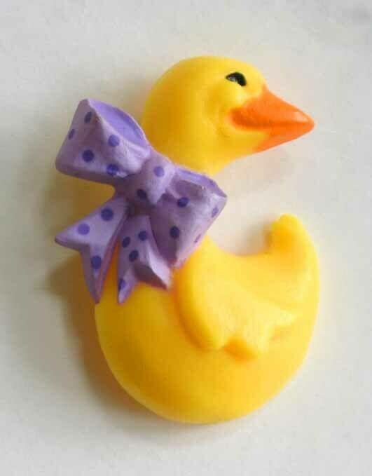 """Super Cute Hallmark Happy Yellow Duck Brooch 1980s vintage 1 3/4"""" - $12.30"""