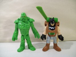 LOT OF 2 DC SUPER FRIENDS IMAGINEXT BATMAN & SWAMP THING ACTION FIGURES ... - $10.19