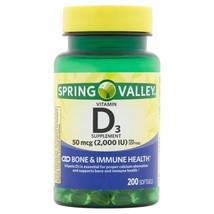 Spring Valley Vitamin D3 Softgels, 2000 IU, 200 CounT. - $14.84
