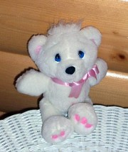 """Precious Moments Plush 7"""" White with Pink Accents & Blue Eyes Bear - $5.69"""