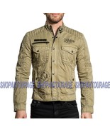 Affliction Camaro 610OW017 New Moto Graphic Zip Jacket For Men - $141.30