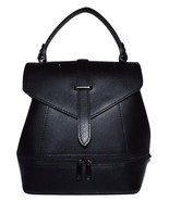 NEW FIRENZE ITALIA WOMEN'S LEATHER SMALL CONVERTIBLE SATCHEL BACKPACK BLACK - $89.05