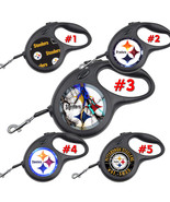 Pittsburgh Steelers Retractable Dog Leash tangle free upto 110 lb pet le... - $22.30+