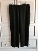 SAG HARBOR Women's Petite 16P Black Stretch Dress Pants Business Work Sl... - $8.00