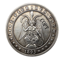 Hobo Nickel 1893-S USA Morgan Dollar The Devil Horror COPPY COIN For - $5.99