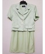 Sag Harbor Skirt Suit Size 14 P Green Knee Length Skirt & Short Sleeves ... - $35.46