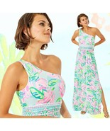 Lilly Pulitzer Malia Totally Blossom Engineered One Shoulder Maxi Dress - $157.25