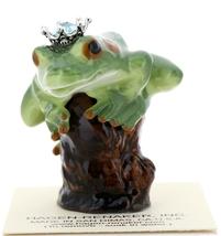 Hagen-Renaker Miniature Tree Frog Figurine Birthstone Prince 03 March Aquamarine image 1