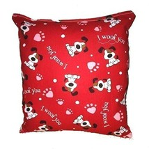 I Woof You Dog  Pillow Puppy Pillow Handmade In USA Dog Pillow Valentine... - $9.99