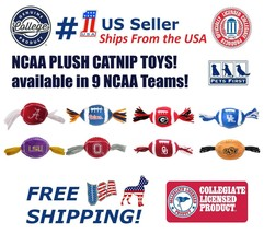 NCAA Catnip Toy - Officially Licensed Plush Football Toy available in 9 ... - $13.12 CAD