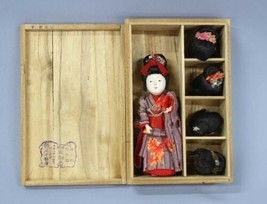 Ichimatsu Doll Antique Japan Wigari replacement doll junction box 12.5 c... - $700.99