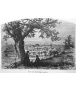 ERIE Pennsylvania View from Federal Hill - 1883 German Print - $16.20