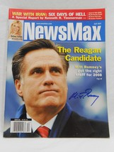 Mitt Romney SIGNED NewsMax Magazine Cover AUTOGRAPHED Republican April 2007 - $98.99