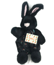 Nibbles North American Bear Co. Hare Black Bunny Rabbit Plush NABCO Carr... - $28.01