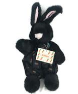 Nibbles North American Bear Co. Hare Black Bunny Rabbit Plush NABCO Carr... - $28.01