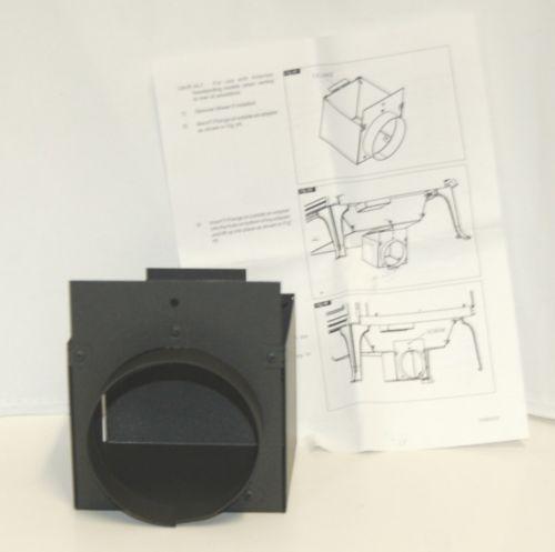 Alderlea OAIRALT Outside Air Adapter Black for Freestanding Models