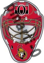 Ottawa Senators Front Goalie Mask Vinyl Decal / Sticker 10 Sizes!!! - $3.99+