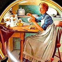1983 Working in the kitchen by Norman Rockwell with Box ( Knowles ) AA20-CP2167a image 4