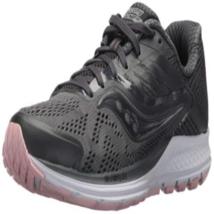 Saucony Womens Ride 10 Running Shoes Gunmetal/Pink - $46.88