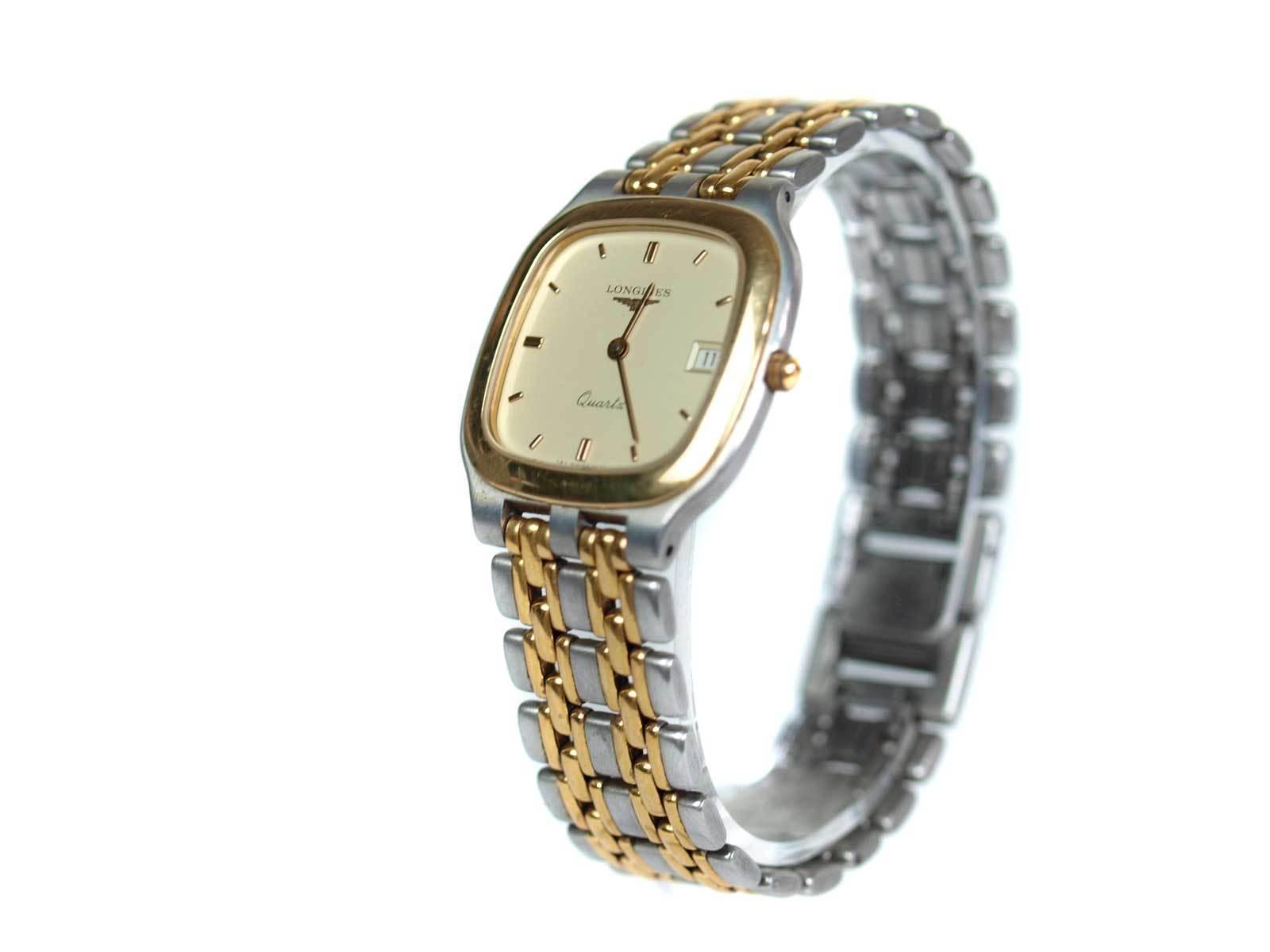 Auth LONGINES Date Stainless Steel Quartz Watch Unisex LW16619L  - $219.00