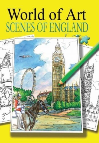 Relaxing Adult Colouring Books World of Art Scenes England