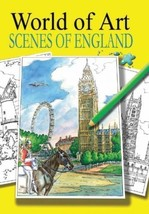 Relaxing Adult Colouring Books World of Art Scenes England - $6.45