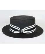 Men Summer Natural Straw Hat BRUNO CAPELO Boater Skimmer Style BC630 bla... - $47.96