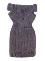 Barbie Doll Clothes Knit Lavendar Off Shoulder Sweater Dress Handmade - $6.49